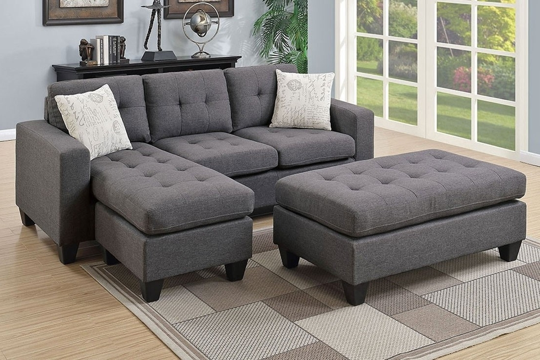 Favorite Fabric Sectional Sofa Set Inside Sectional Sofas (View 3 of 20)
