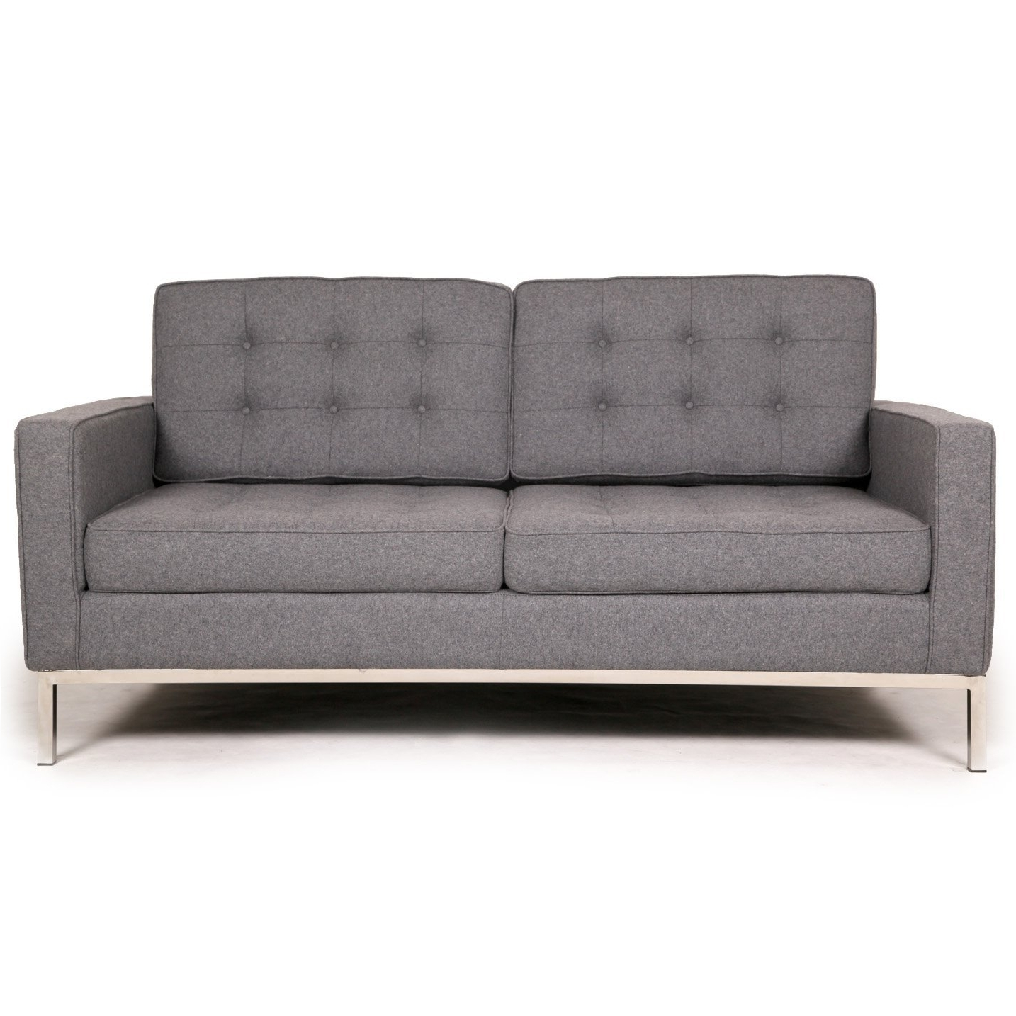 Favorite Florence Sofas And Loveseats With Regard To Florence Knoll Two Seat Loft Sofa Loveseat Wool (View 3 of 20)