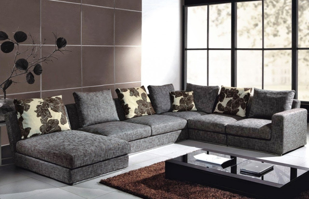 Favorite Gray Canvas Deep Oversized Sectional Sofa With Chaise Lounge And Intended For Deep Cushion Sofas (View 8 of 20)