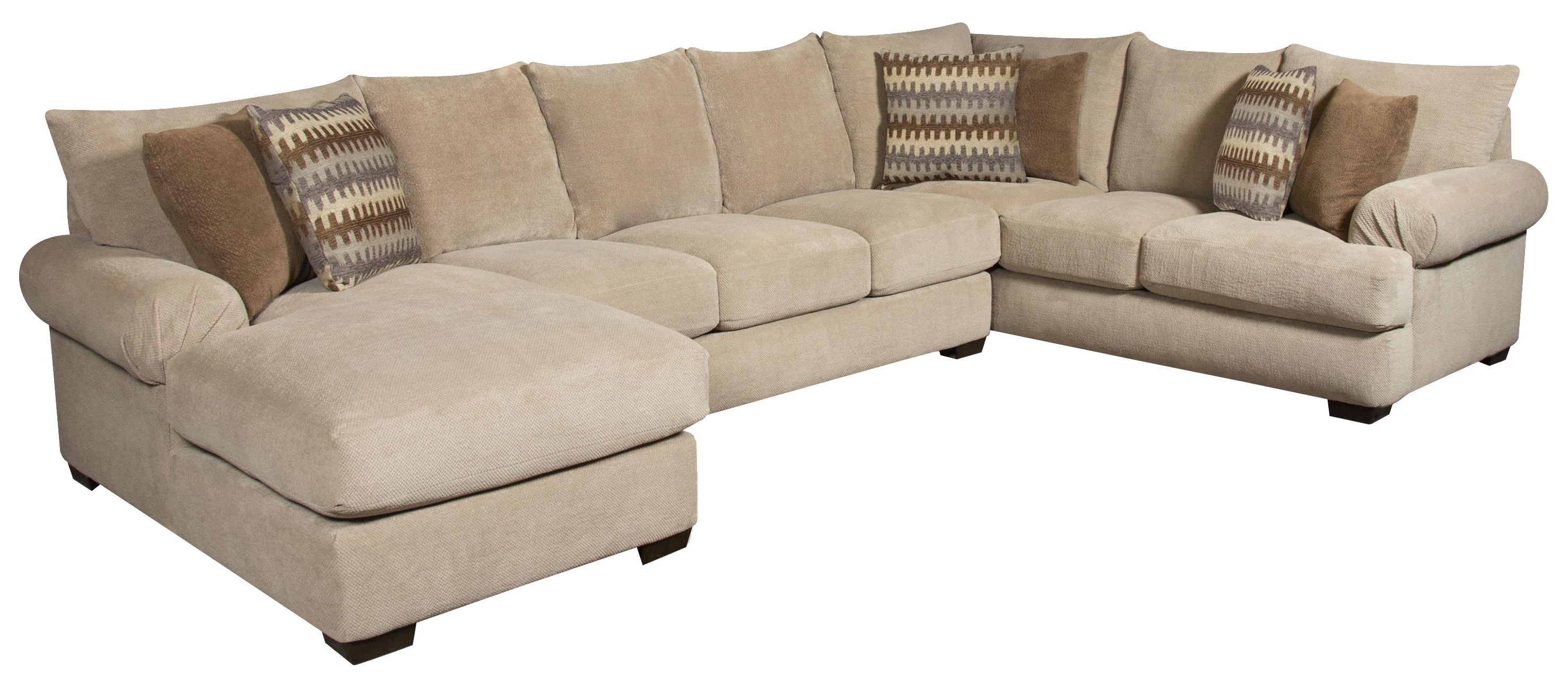 Favorite Jacksonville Nc Sectional Sofas Intended For Corinthian 61A0 Sectional Sofa With Right Side Chaise (View 5 of 20)