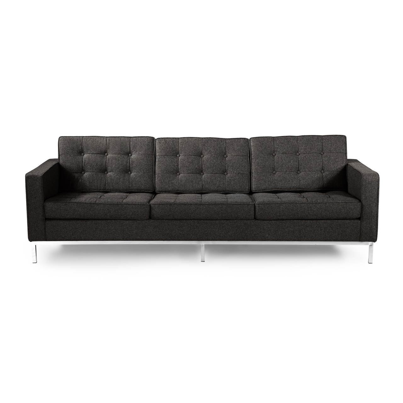 Favorite Kardiel Florence Knoll Style 3 Seat Sofa, Cashmere Wool – Free Within Florence Knoll Leather Sofas (View 4 of 20)