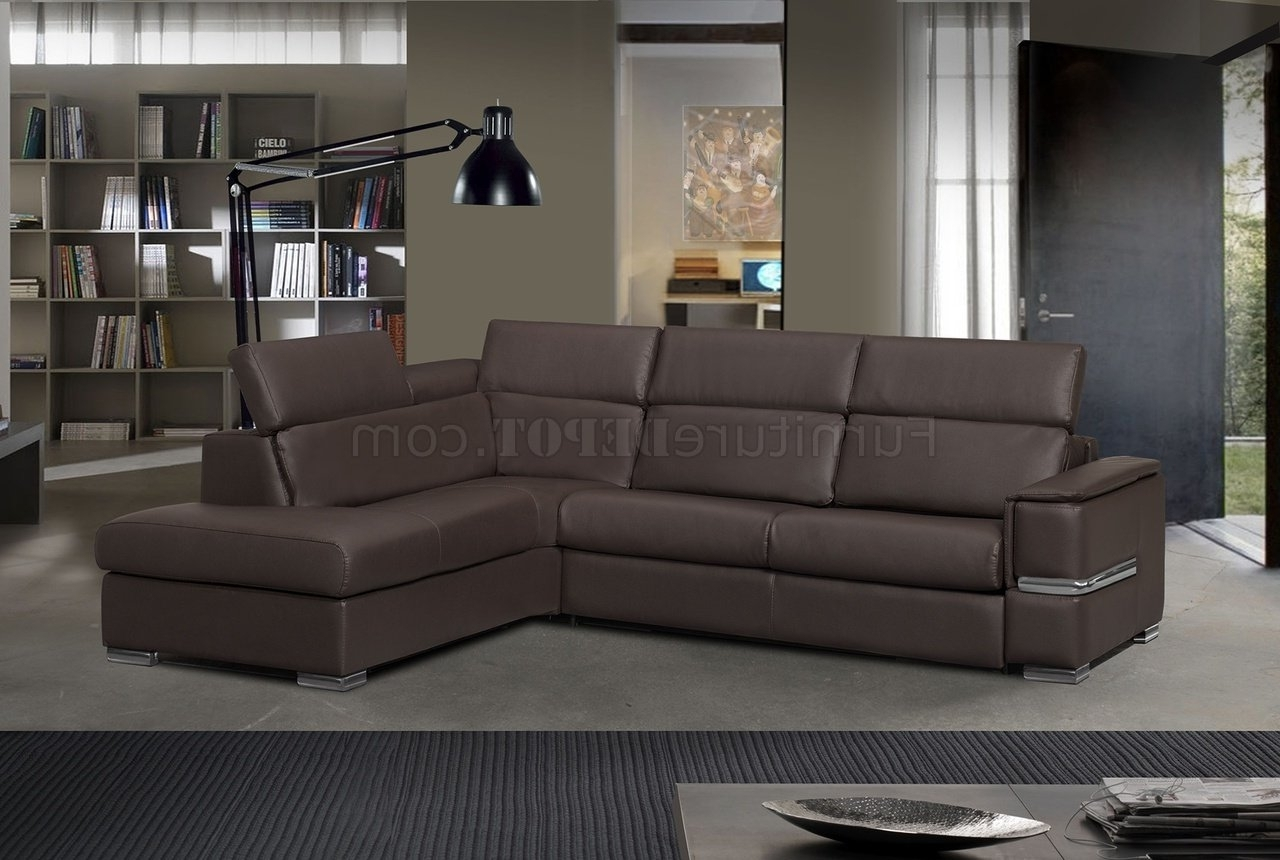 Favorite Limo Sectional Sofa In Brown Full Leatheresf W/sleeper Pertaining To Made In North Carolina Sectional Sofas (View 6 of 20)