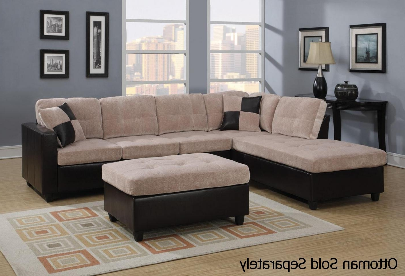 Favorite Los Angeles Sectional Sofas With Mallory Beige Leather Sectional Sofa – Steal A Sofa Furniture (View 18 of 20)