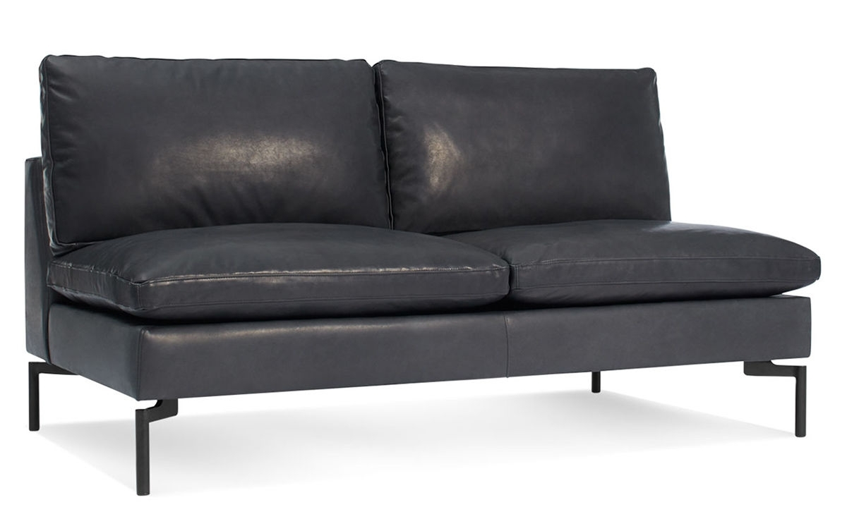Favorite New Standard Armless Leather Sofa – Hivemodern In Small Armless Sofas (View 2 of 20)