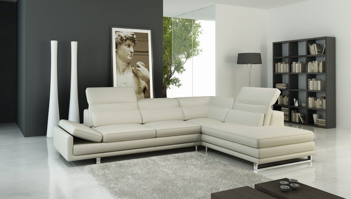 Favorite Off White Leather Sofas Regarding A 958 Modern Sectional Italian Leather Sofa Off White (View 14 of 20)