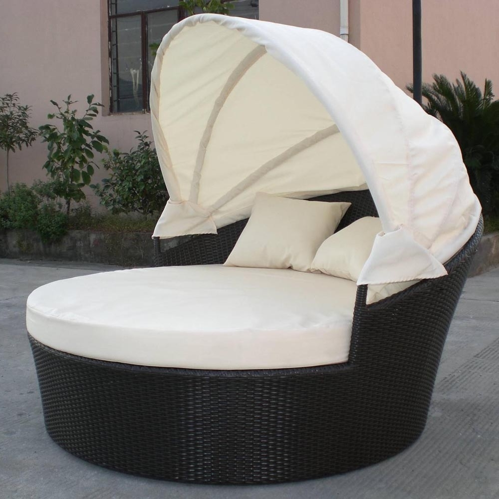 Favorite Outdoor Wicker Dog Bed With Canopy — Vine Dine King Bed : Protect Throughout Outdoor Sofas With Canopy (View 19 of 20)