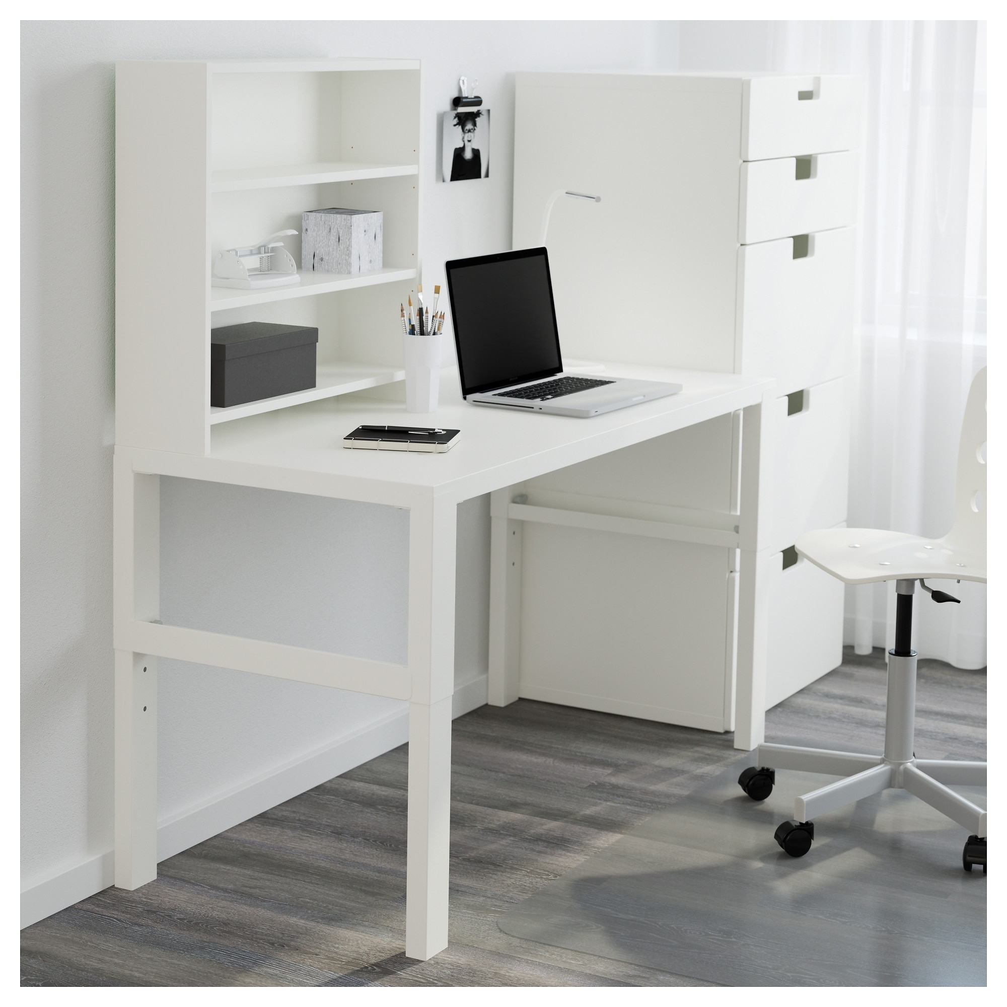 Favorite Påhl Desk With Add On Unit – White – Ikea Within Ikea Mn Computer Desks (View 7 of 20)