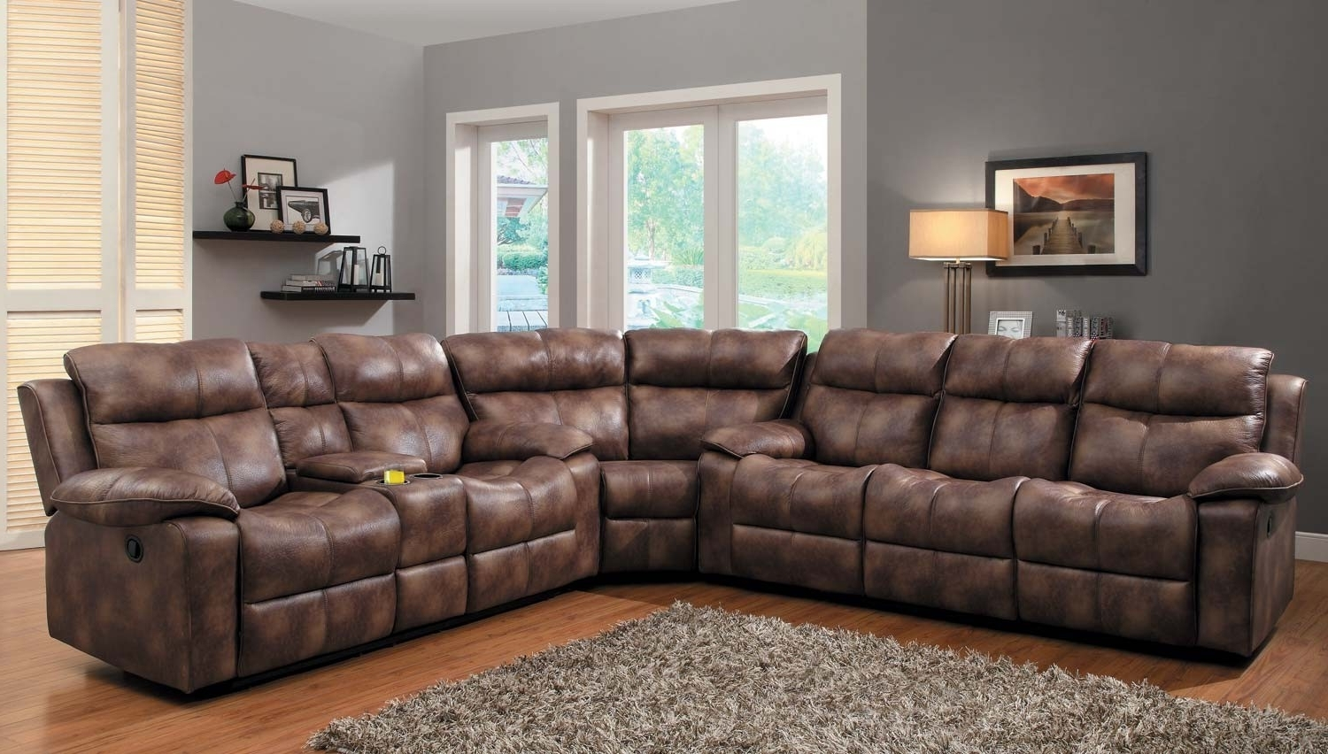 Favorite Reclining Sectional Sofas Within Unique Microfiber Reclining Sectional Sofa – Buildsimplehome (View 18 of 20)