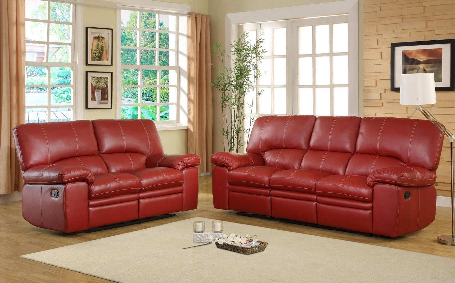 Favorite Red Leather Reclining Sofa – Visionexchange (View 10 of 20)