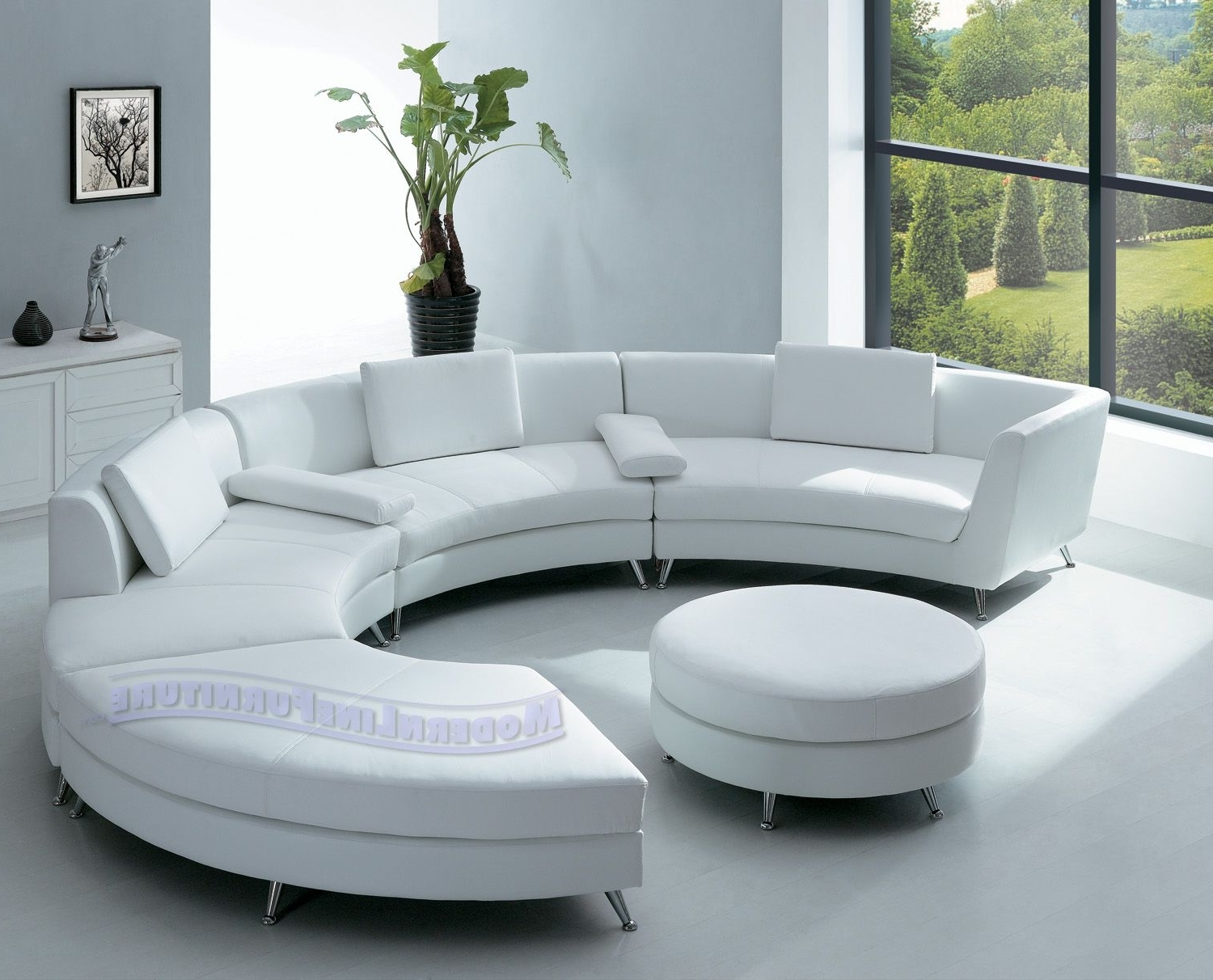 Favorite Room Furniture With Elegant Half Circle Sofa Home Interior Designs With Regard To Contemporary Sofa Chairs (View 12 of 20)