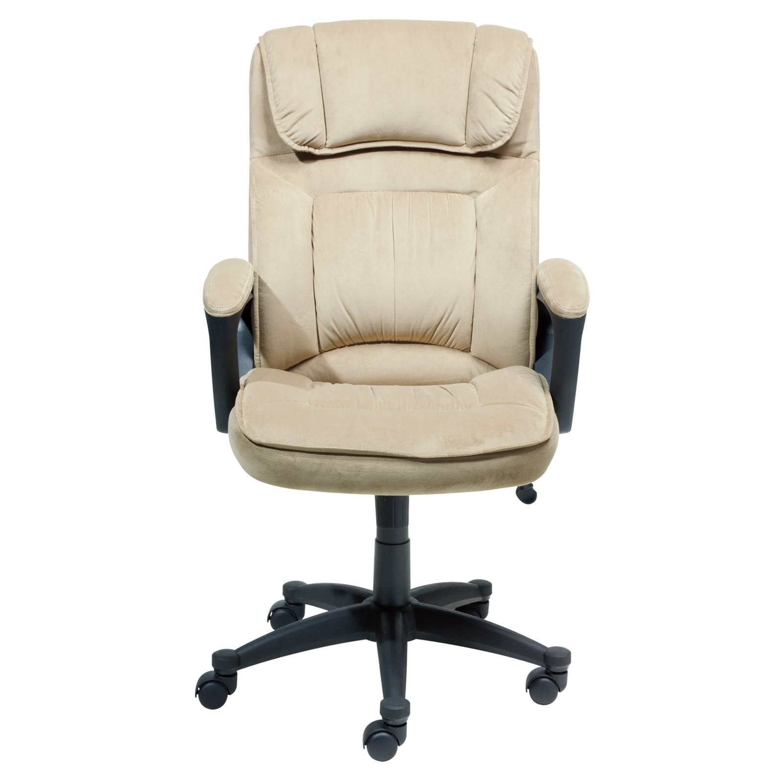 Favorite Serta Microfiber Executive Office Chair – Light Beige (View 6 of 20)