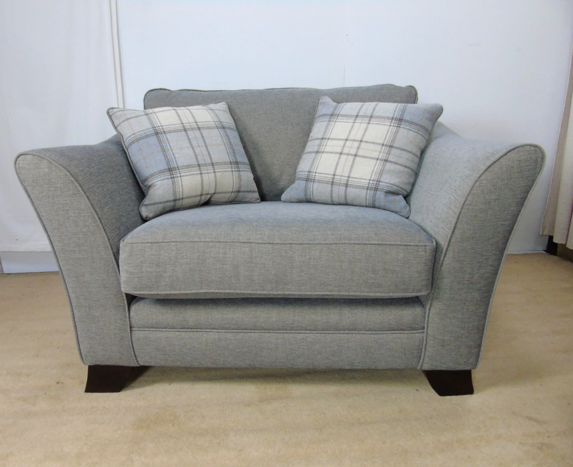 Favorite Snuggle Sofas With Annalise Snuggle Chair Hellas Grey (View 7 of 20)