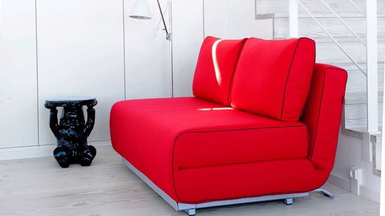 Favorite Tiny Sofas Regarding Sofa Bed, A Smart Solution For Small Spaces – Youtube (View 13 of 20)