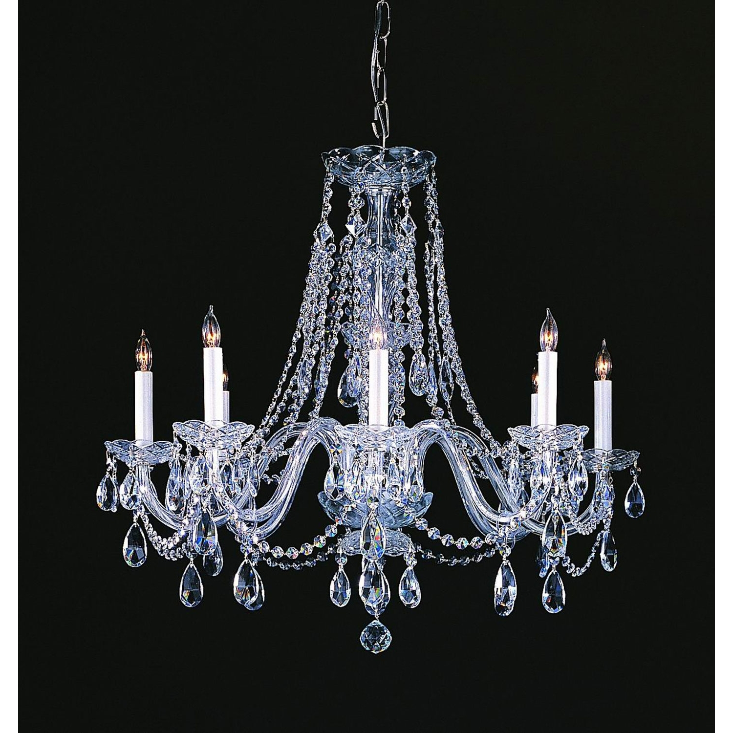 Favorite Traditional Brass Chandeliers Pertaining To Crystorama Lighting Group Traditional Crystal Polished Chrome Eight (View 9 of 20)