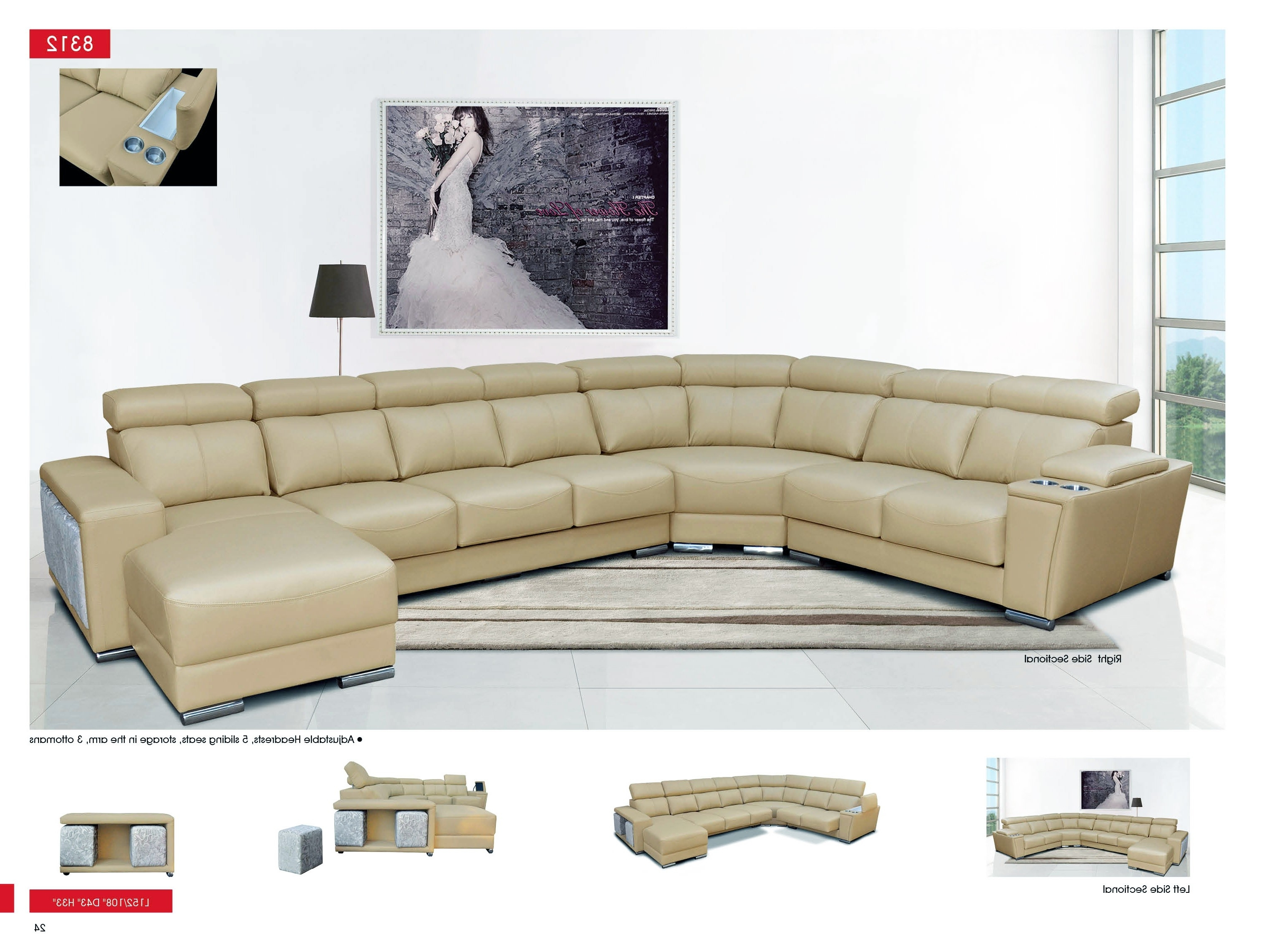 Favorite Trinidad And Tobago Sectional Sofas For Esf 8312 Sectional Sofa With Sliding Seats (View 4 of 20)