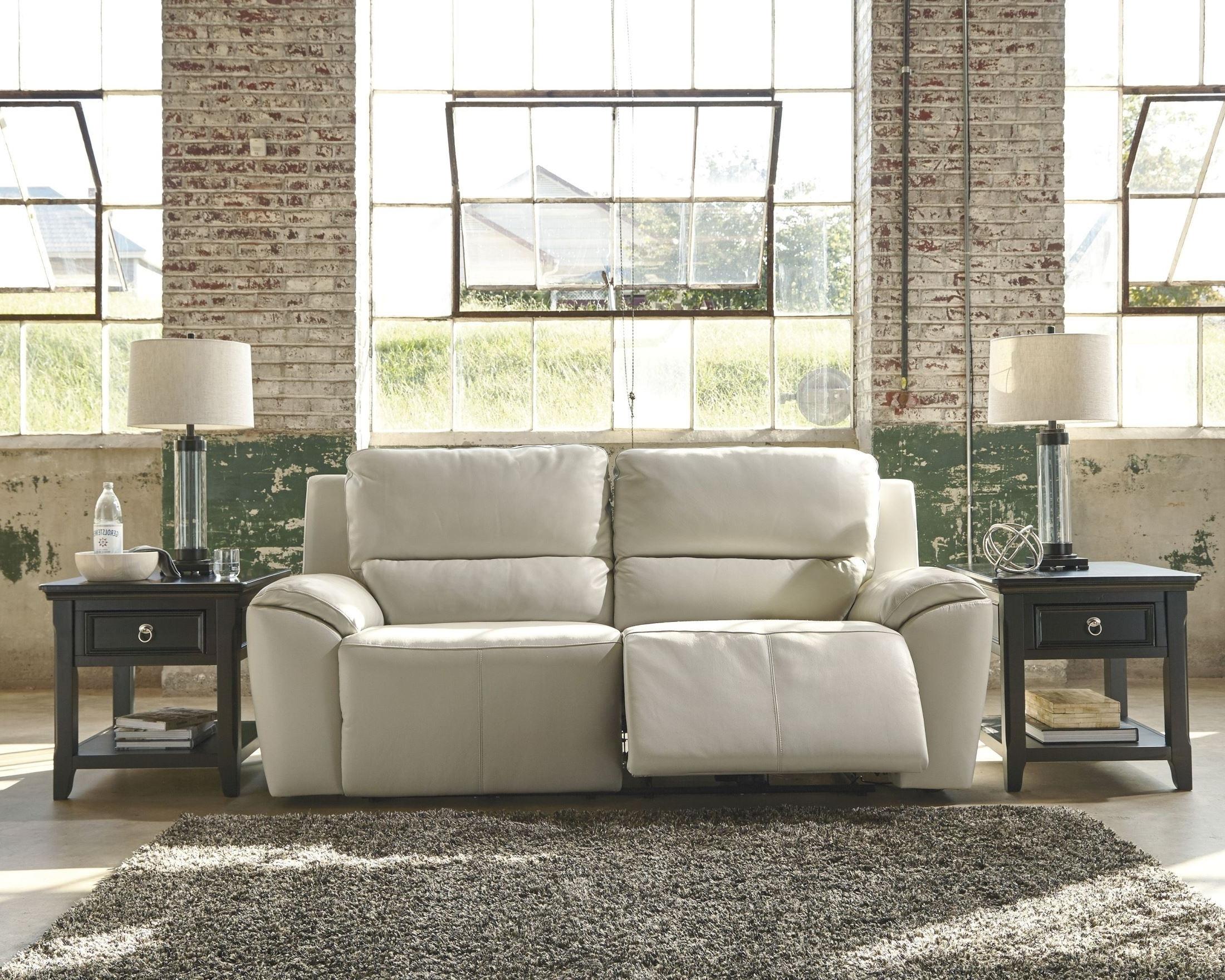 Favorite Valeton Cream 2 Seat Power Reclining Sofa From Ashley (U7350047 Throughout 2 Seat Recliner Sofas (View 14 of 20)