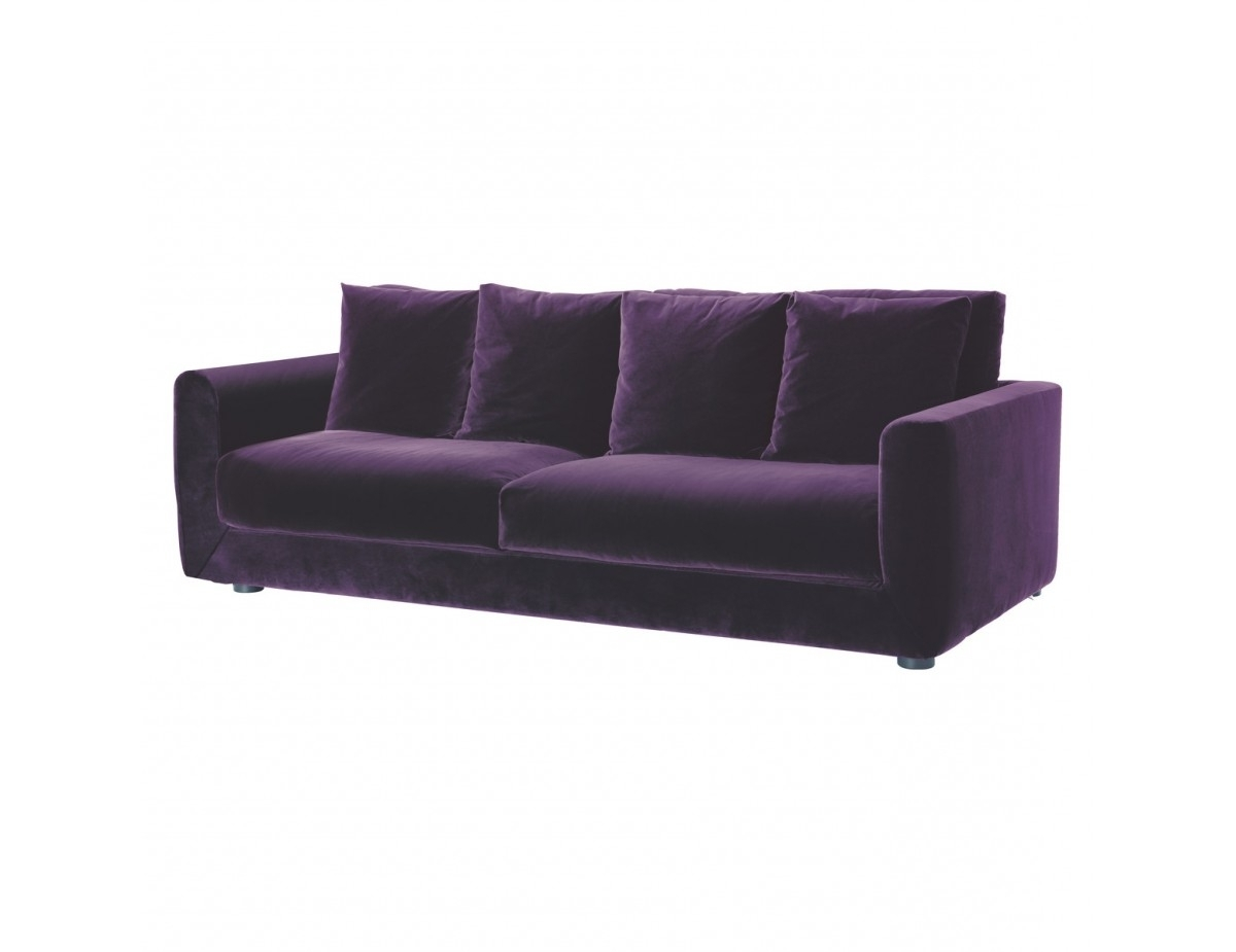 Favorite Velvet Purple Sofas Regarding Uncategorized : Violet Sofa 2 Within Inspiring Perfect Purple Sofa (View 10 of 20)