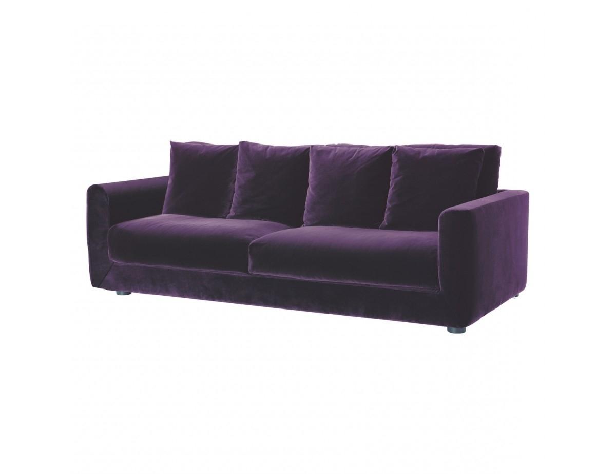 Favorite Velvet Purple Sofas Regarding Uncategorized : Violet Sofa 2 Within Inspiring Perfect Purple Sofa (View 4 of 20)