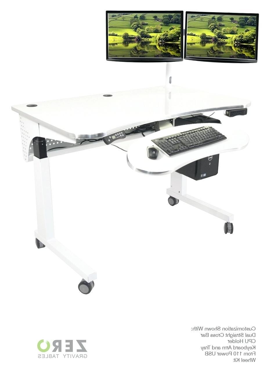 Favorite Vertical Computer Desks Inside Computer Desks : Stand Up Computer Desk Nz Desktop Vertical Desks (View 2 of 20)
