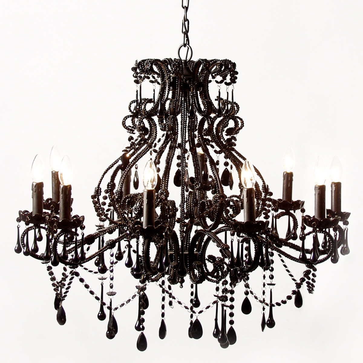 Favorite Vintage Black Chandelier Within Vintage Black Chandelier For Bedroom Image 4 – Howiezine (View 4 of 20)