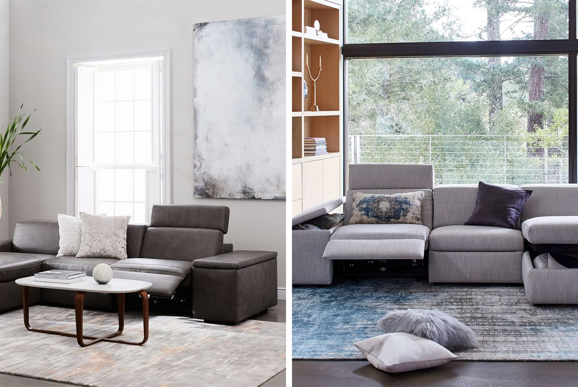 Favorite West Elm's New Enzo Series Features Recliners And Storage – Gear Within West Elm Sectional Sofas (View 3 of 20)