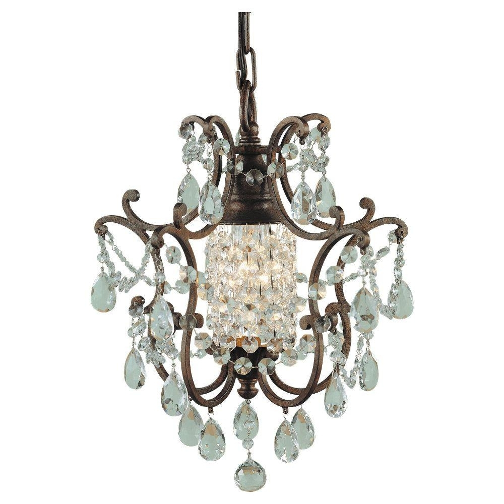 Feiss Maison De Ville 1 Light British Bronze Mini Chandelier F1879 In Latest Small Bronze Chandelier (View 8 of 20)