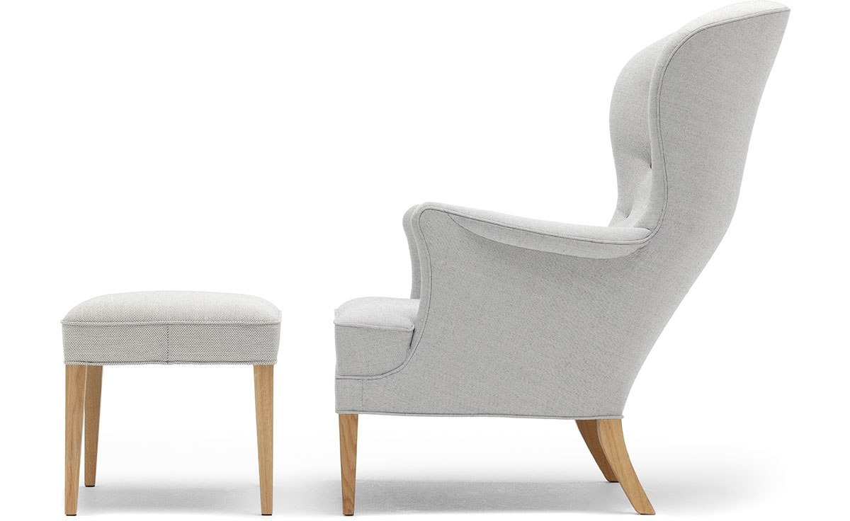 Fh419 Heritage Lounge Chair & Ottoman – Hivemodern For Trendy Chairs With Ottoman (View 9 of 20)