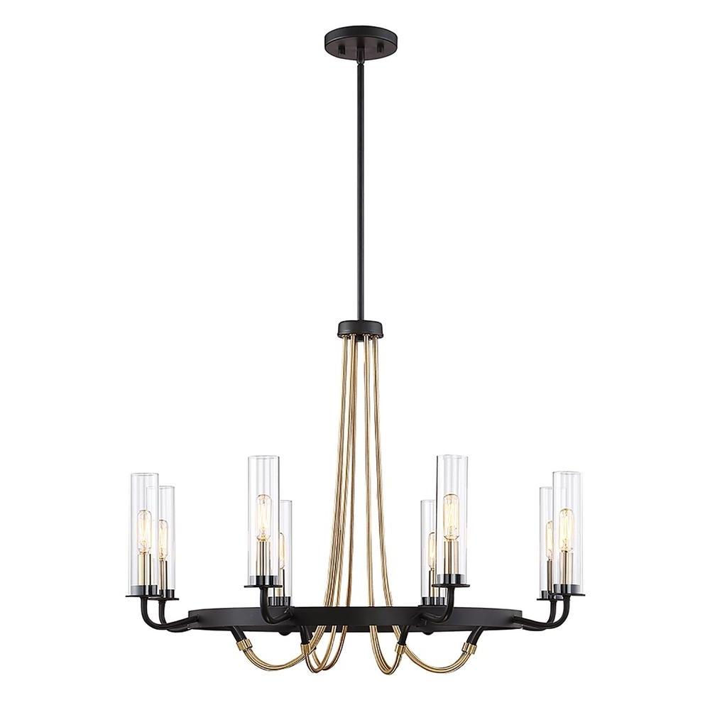 Filament Design 8 Light Vintage Black Chandelier Cli Sh265549 – The Intended For Recent Vintage Black Chandelier (View 7 of 20)