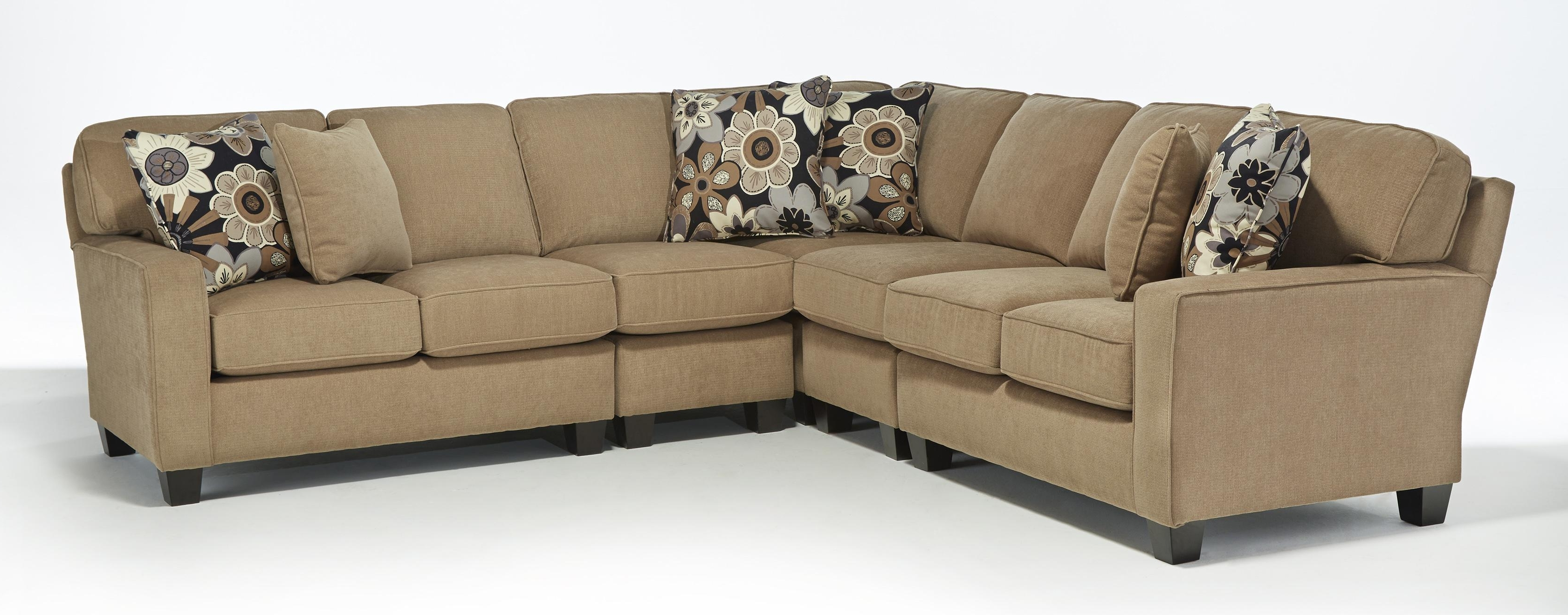 Five Piece Customizable Sectional Sofa With Track Arms And Wood Throughout Current Custom Made Sectional Sofas (View 9 of 20)