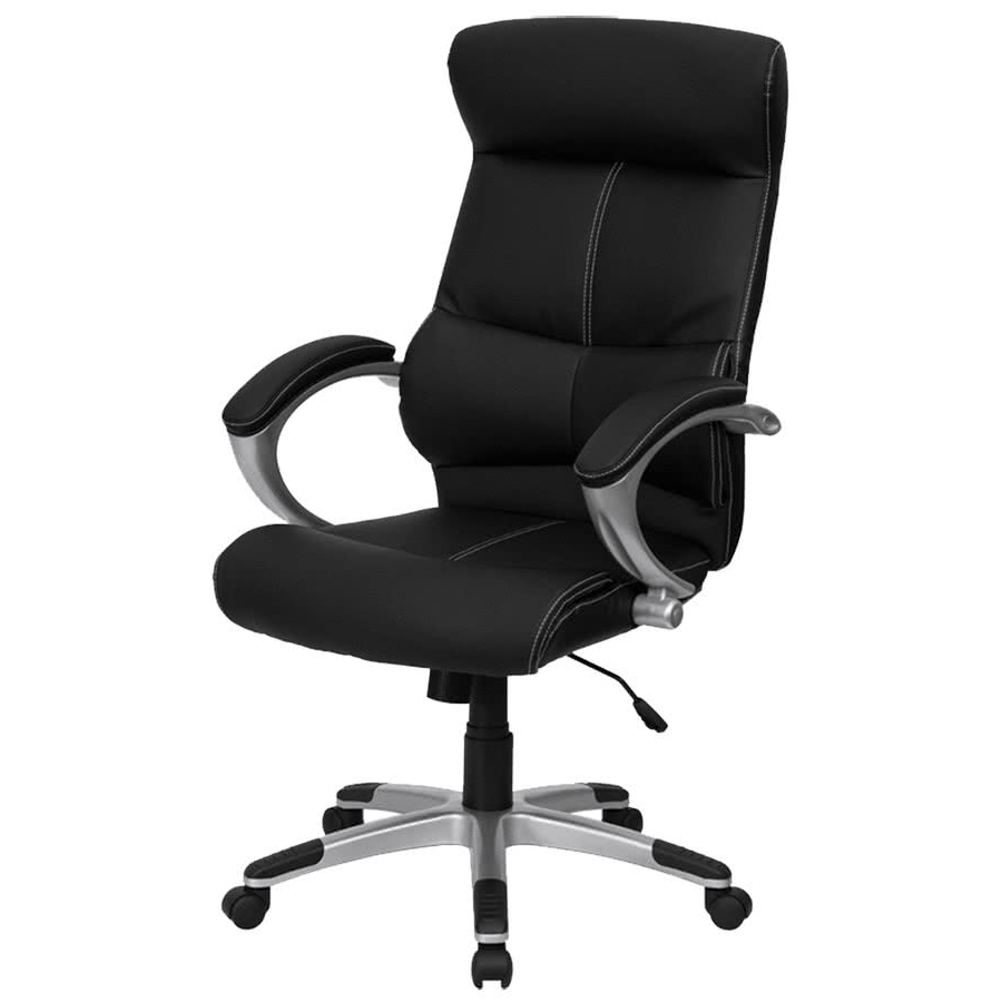 Flash Furniture H 9637L 1C High Gg High Back Black Leather With Famous Contemporary Executive Office Chairs (View 6 of 20)