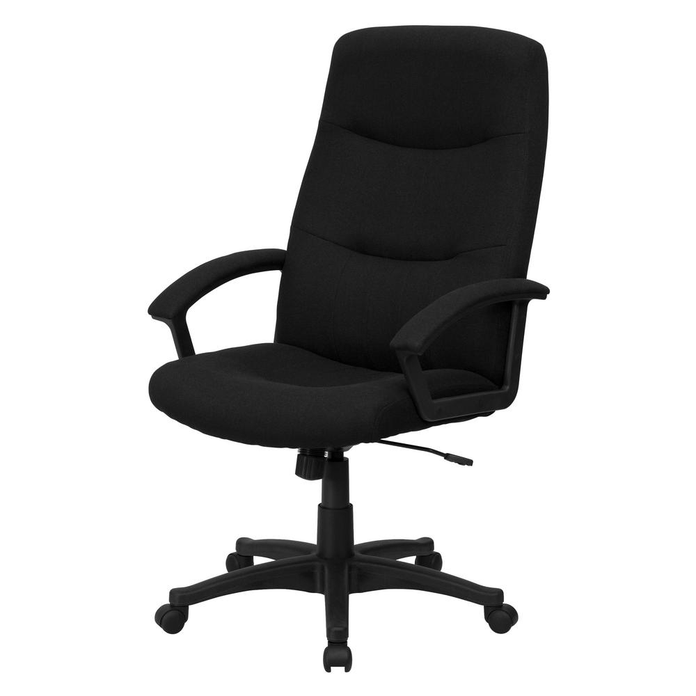 Flash Furniture High Back Black Fabric Executive Swivel Office Pertaining To Widely Used Black Executive Office Chairs With High Back (View 17 of 20)