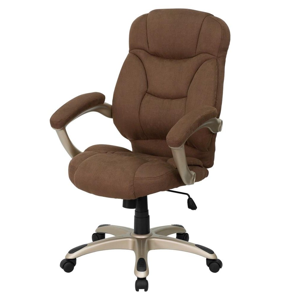 Flash Furniture High Back Brown Microfiber Contemporary Executive With Regard To Newest Light Beige Microfiber Executive Office Chairs (View 7 of 20)