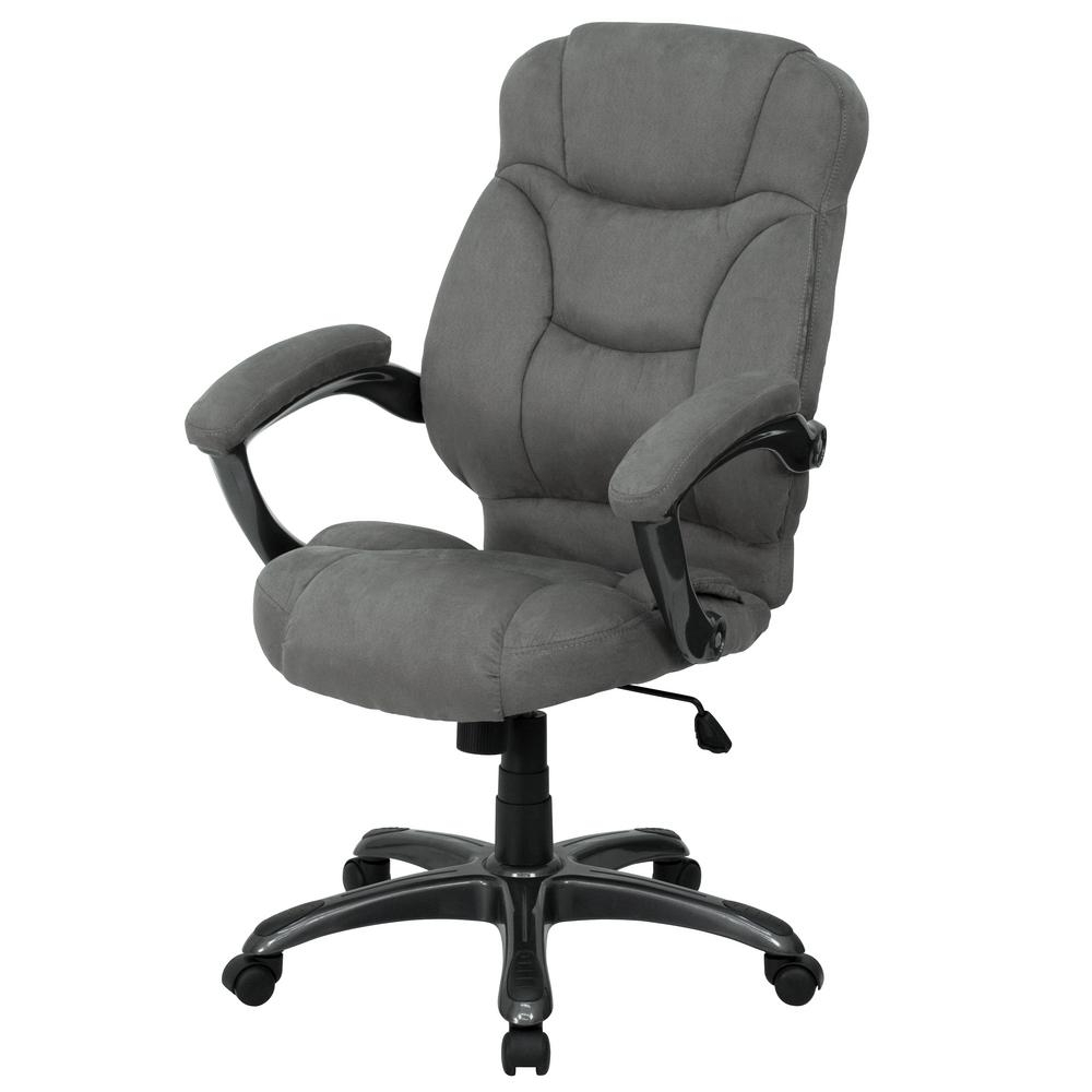Flash Furniture High Back Brown Microfiber Contemporary Executive Within Most Recently Released Contemporary Executive Office Chairs (View 3 of 20)