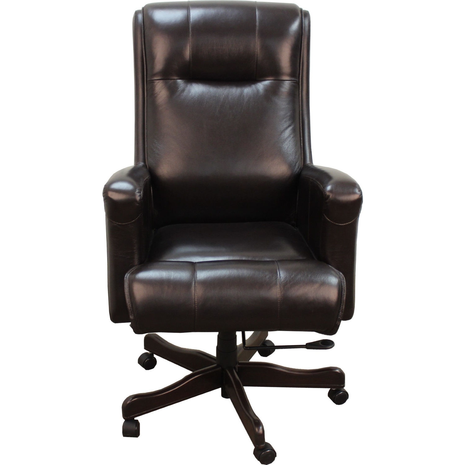Flash Furniture High Back Leather Executive Office Chair Brown Throughout Best And Newest Brown Leather Executive Office Chairs (View 14 of 20)