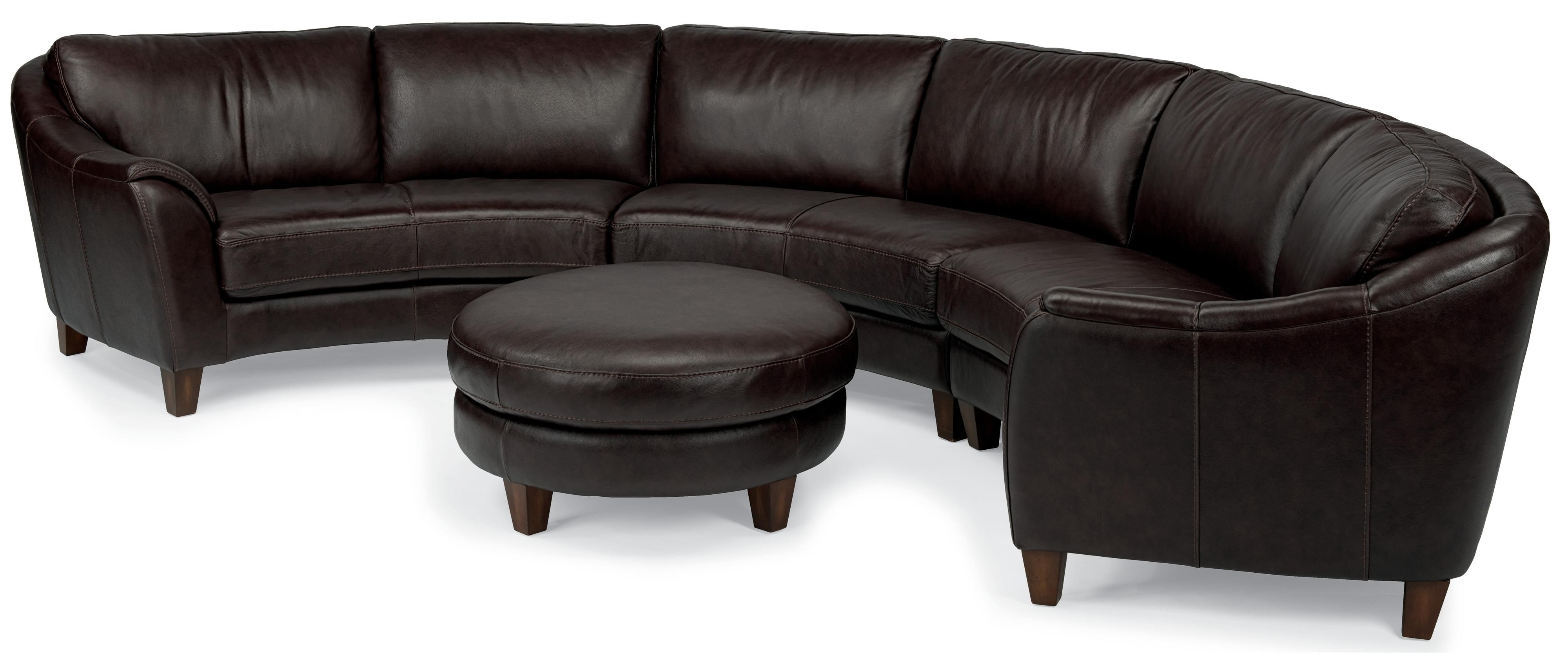 Flexsteel Latitudes Lidia Contemporary Three Piece Conversation In Well Known Nova Scotia Sectional Sofas (View 19 of 20)