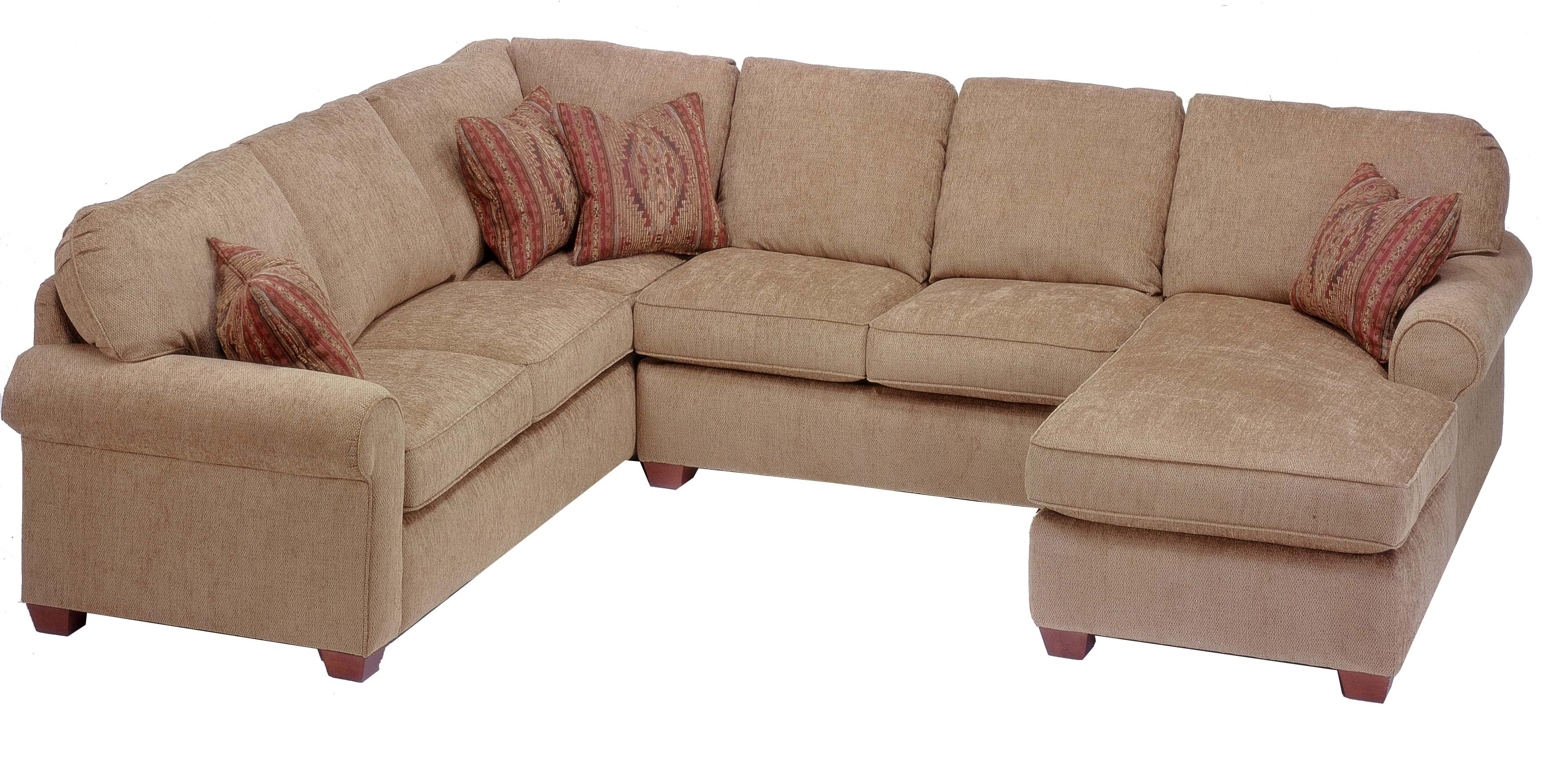 Flexsteel Thornton 3 Piece Sectional With Chaise – Ahfa – Sofa Pertaining To Newest Hickory Nc Sectional Sofas (View 2 of 20)