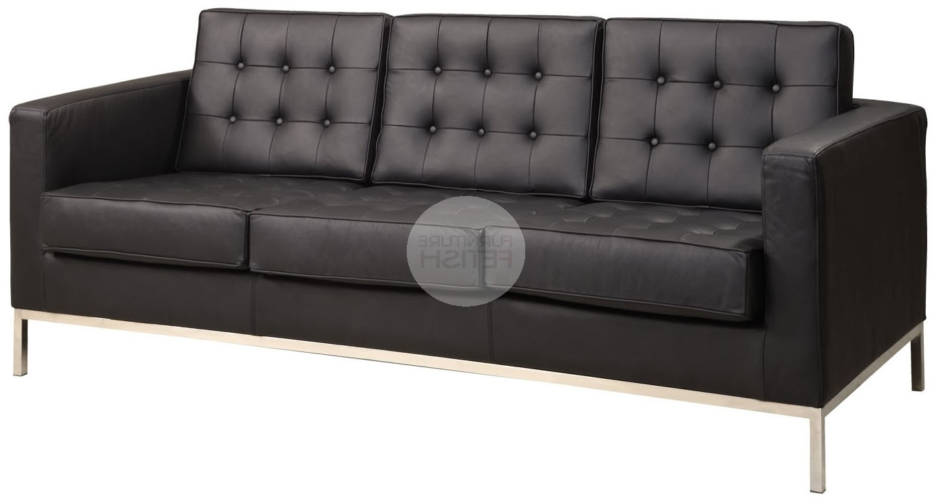 Florence Knoll Replica 3 Seater Sofa – Black Furniture Fetish Gold Regarding Fashionable Florence Knoll 3 Seater Sofas (View 11 of 20)