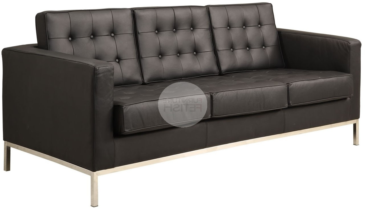 Florence Knoll Replica 3 Seater Sofa – Black Furniture Fetish Gold Within Well Known Florence Knoll 3 Seater Sofas (View 19 of 20)