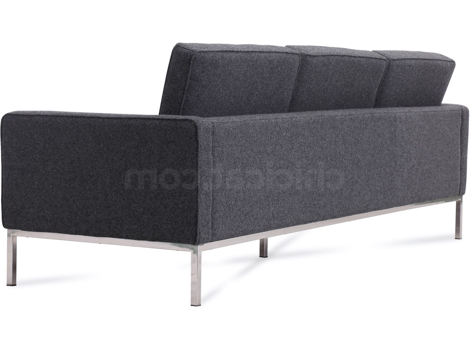 Florence Knoll Sofa 3 Seater Wool Platinum Replica With Regard To Most Recently Released