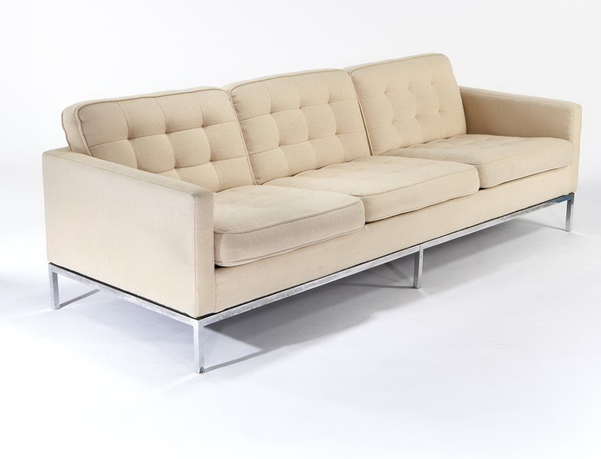 Florence Knoll Sofa With 3 Seater — Home Design Ideas Throughout Best And Newest Florence Sofas And Loveseats (View 5 of 20)