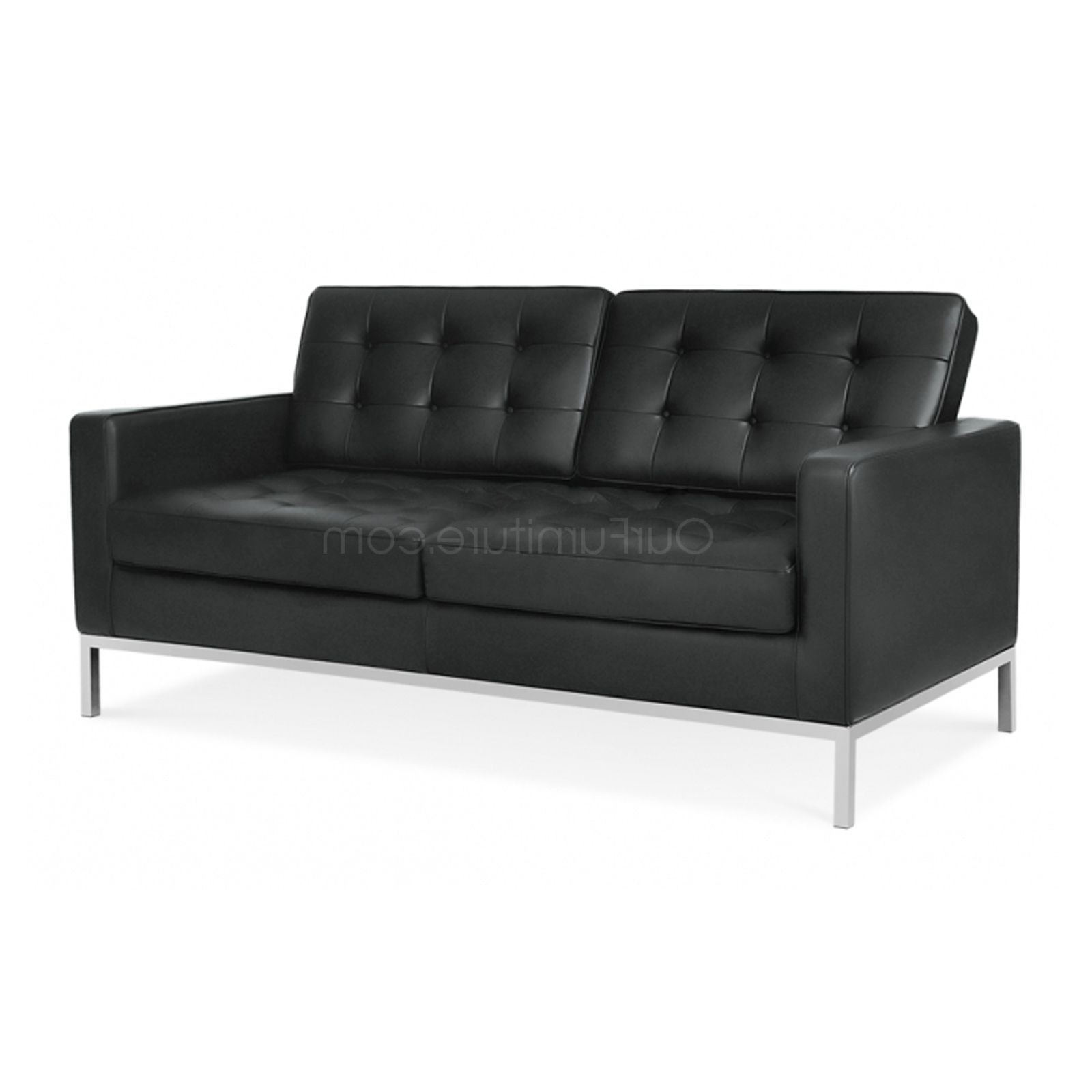 Florence Knoll Style 2 Seater Sofa Semi Aniline Leather Pertaining To Best And Newest Florence Knoll Style Sofas (View 5 of 20)