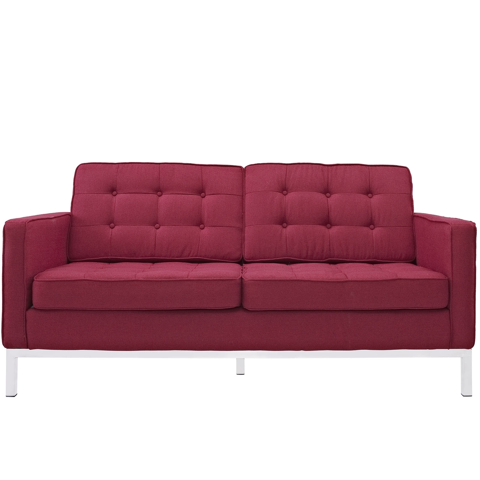 Florence Knoll Style Loveseat Couch – Wool Throughout Latest Florence Knoll Style Sofas (View 7 of 20)