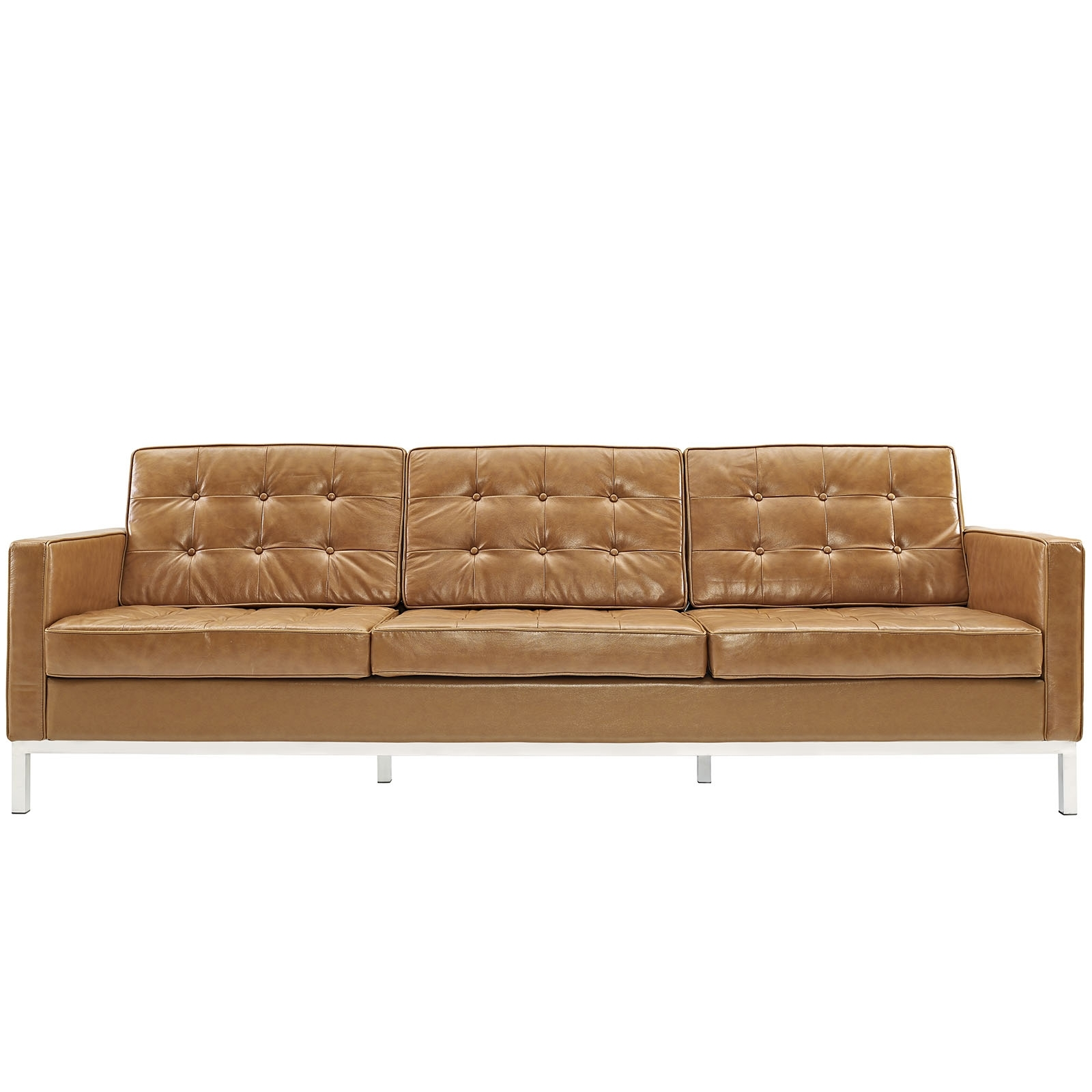 Florence Knoll Style Sofa Couch – Leather Intended For Latest Florence Large Sofas (View 7 of 20)