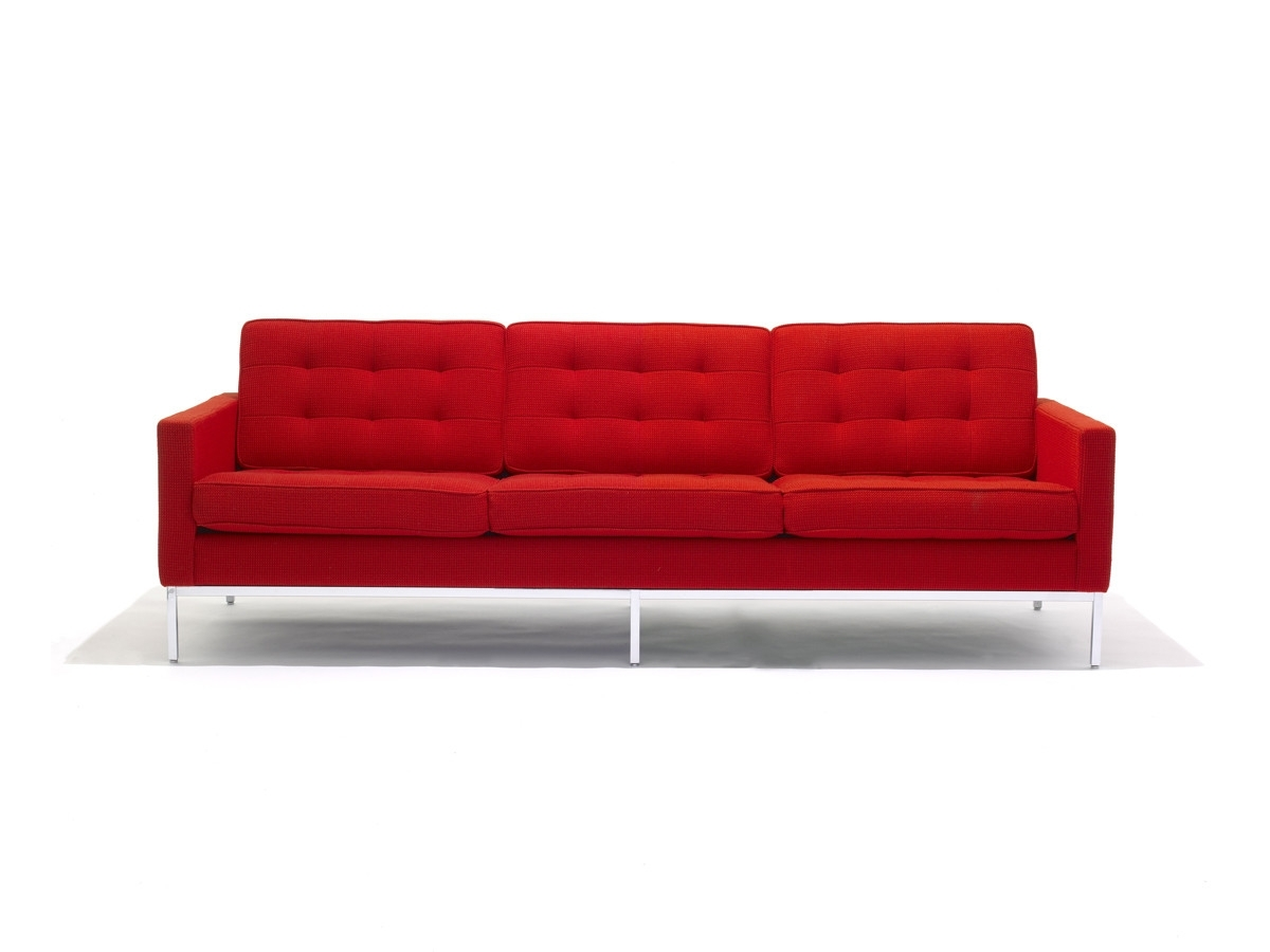 Florence Knoll Wood Legs Sofas Regarding Newest Buy The Knoll Studio Knoll Florence Knoll Three Seater Sofa At (View 10 of 20)