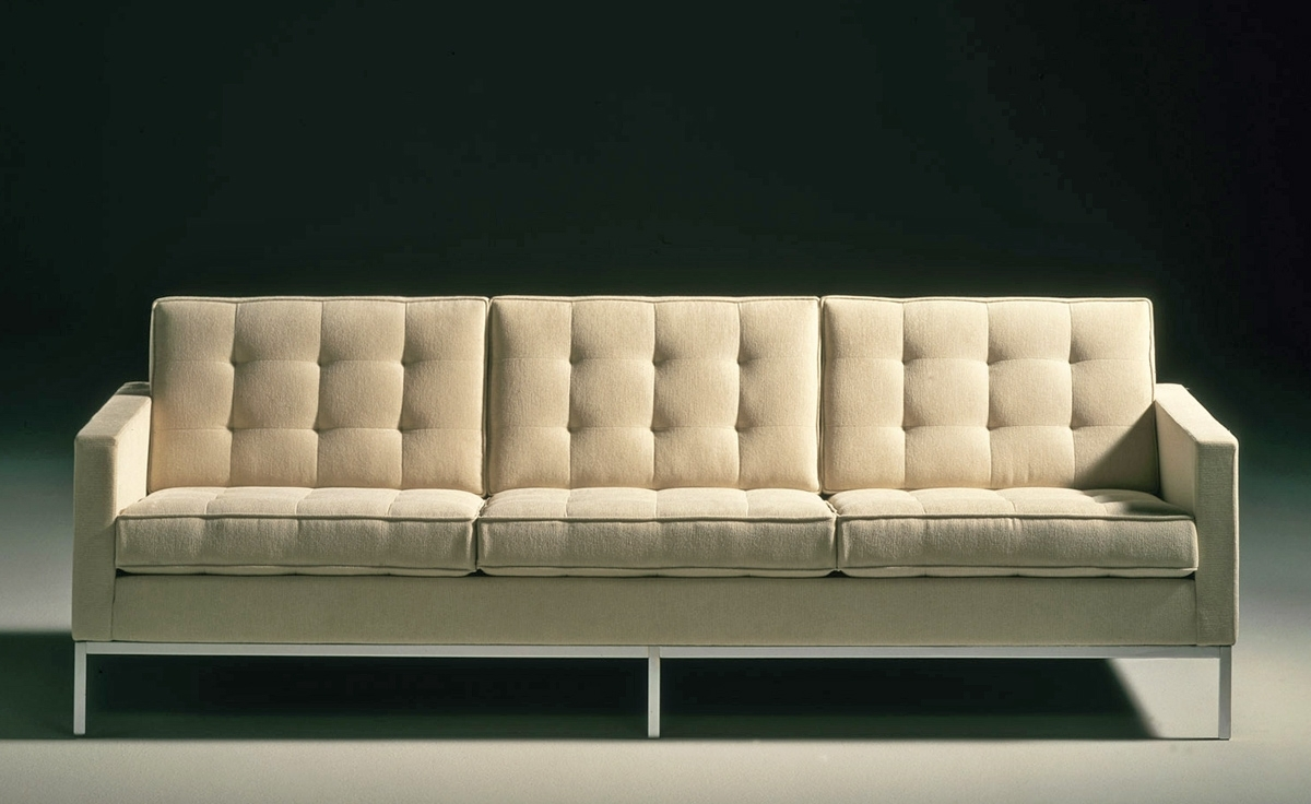 Florence Leather Sofas Throughout Popular Florence Knoll 3 Seat Sofa – Hivemodern (View 9 of 20)