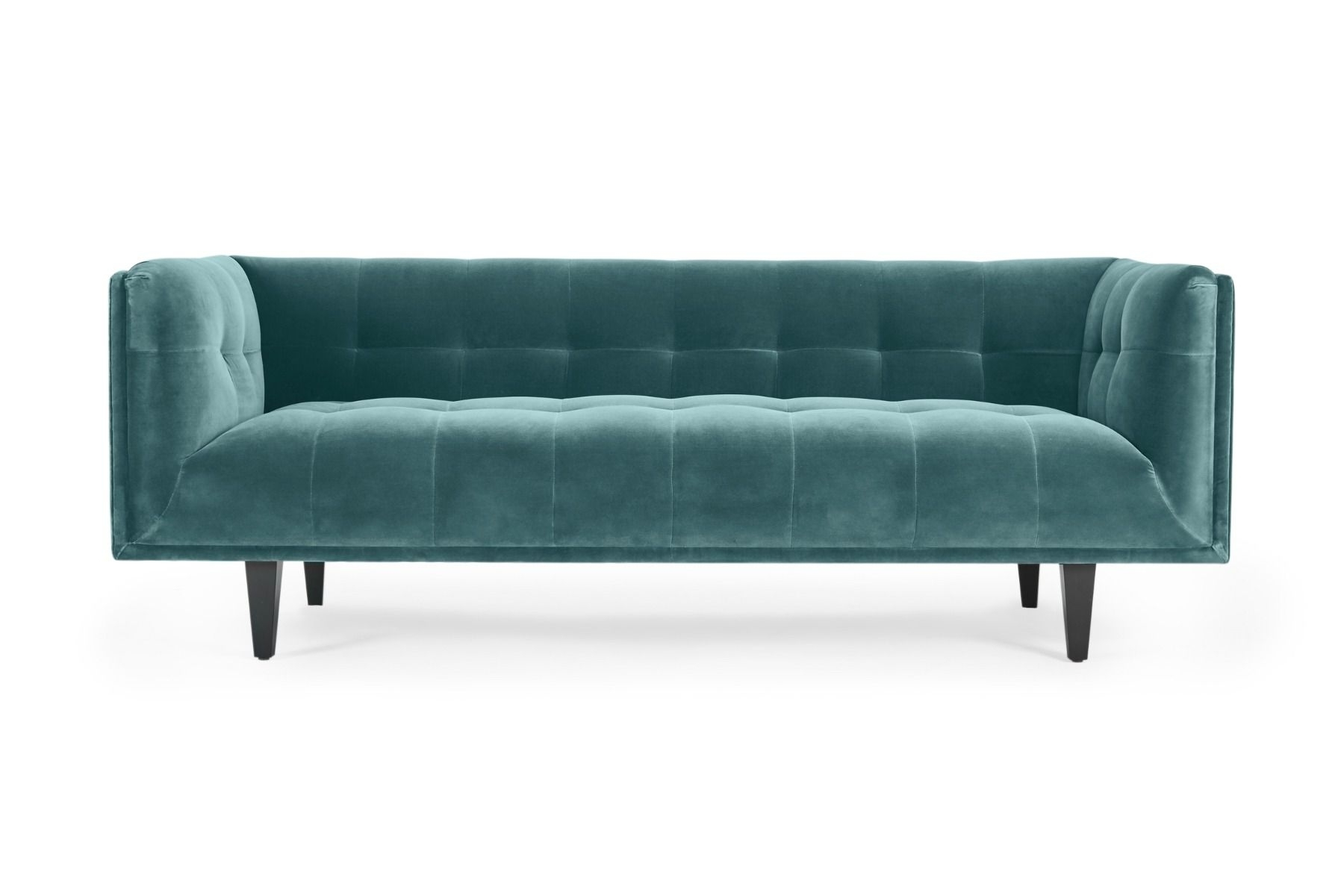 Florence Sofas With Latest Florence 3 Seat Sofa Cotton Velvet Petrol (View 10 of 20)