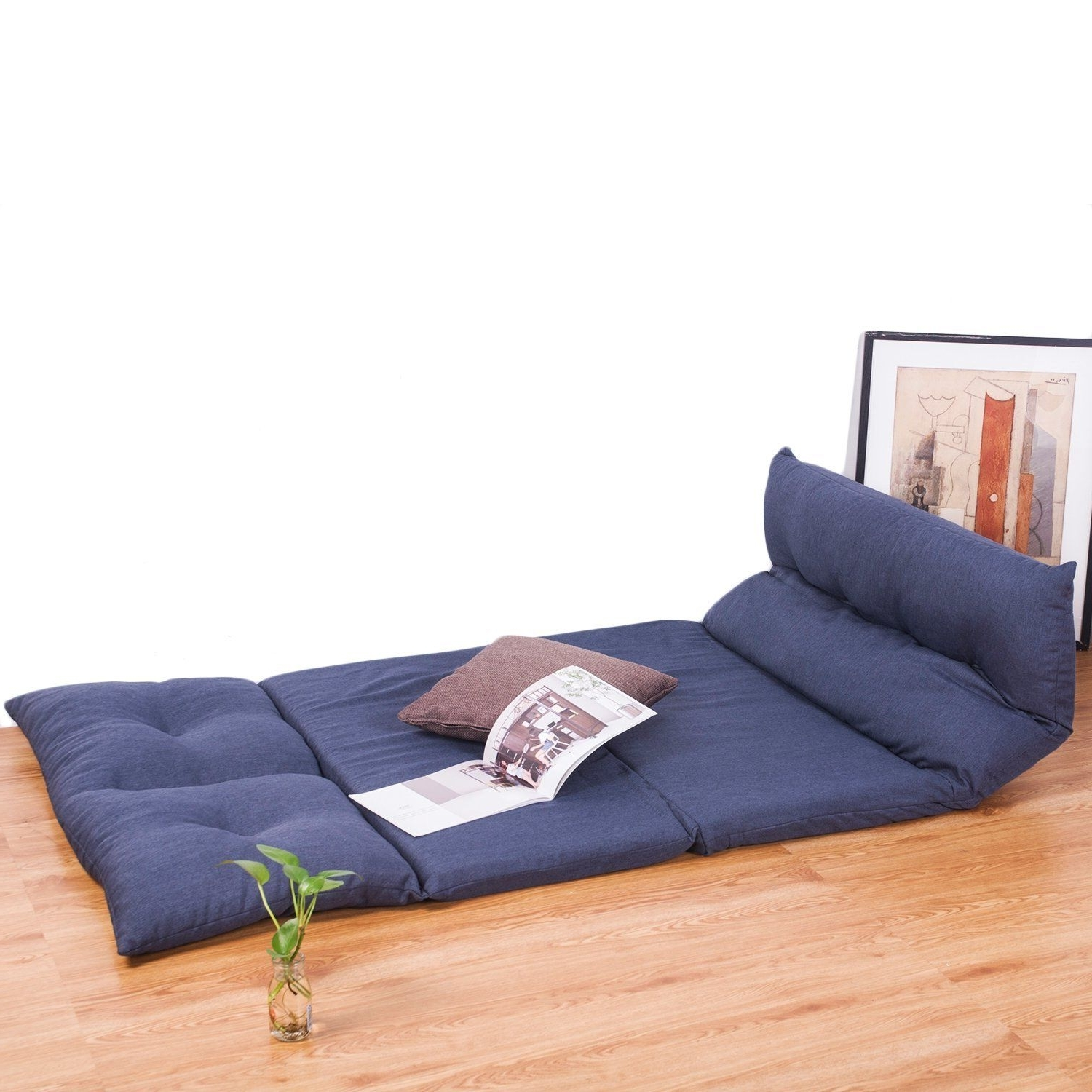 Folding Sofa Chairs Within Current Amazon: Merax Adjustable Fabric Folding Chaise Lounge Sofa (View 10 of 20)