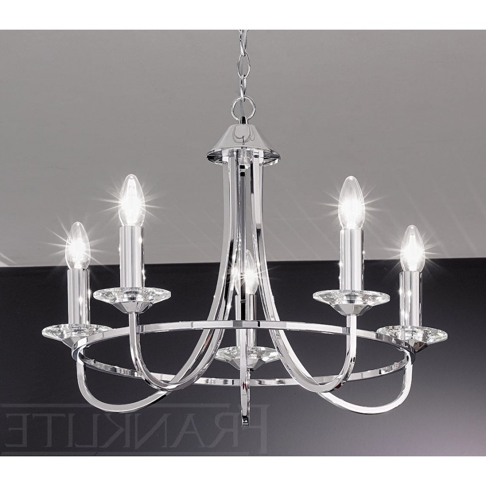 Franklite Carousel Chrome Fl2146/5 5 Light Chrome Chandelier (View 7 of 20)