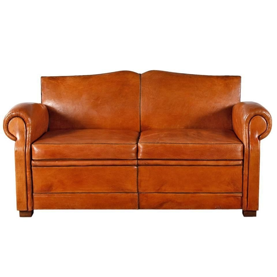 French Art Deco Leather Club Sofa, 1930S At 1Stdibs In Fashionable 1930S Sofas (View 10 of 20)