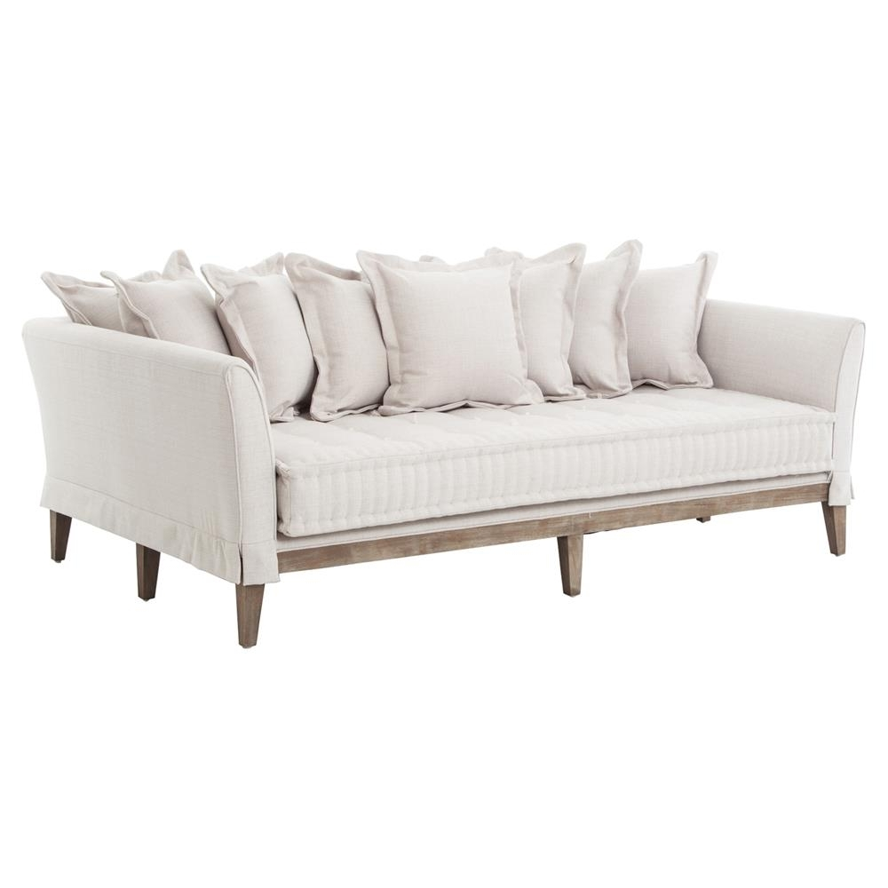 French Style Sofas Pertaining To Recent Dedon French Country Coastal Style Light Sand Sofa (View 6 of 20)